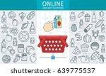 online rocery store banner.... | Shutterstock .eps vector #639775537