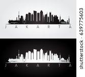jakarta skyline and landmarks... | Shutterstock .eps vector #639775603