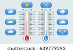 celsius and fahrenheit... | Shutterstock .eps vector #639779293