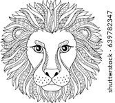 vector coloring book for adult. ... | Shutterstock .eps vector #639782347