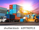 industrial logistics and... | Shutterstock . vector #639783913