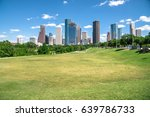 downtown houston at daytime... | Shutterstock . vector #639786733