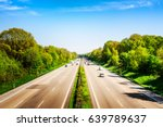 highway traffic with cars and... | Shutterstock . vector #639789637