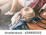 Woman Traveler Holding Smart...