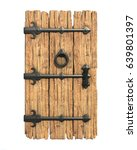 Old Medieval Wooden Door 3d...