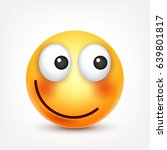 smiley smiling emoticon. yellow ... | Shutterstock .eps vector #639801817