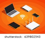 isometric electronic devices ... | Shutterstock .eps vector #639802543