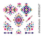 set of fashion mexican  navajo... | Shutterstock .eps vector #639803167
