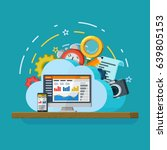 cloud computing services banner ... | Shutterstock . vector #639805153