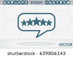 customer product rating bubble. ... | Shutterstock .eps vector #639806143