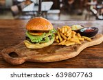 fast food dish. appetizing meat ... | Shutterstock . vector #639807763