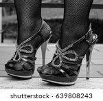 sexy legs in high heels and... | Shutterstock . vector #639808243