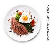 grilled steak   fillet mignon... | Shutterstock . vector #639815647
