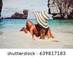 summer lifestyle portrait of... | Shutterstock . vector #639817183