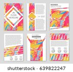 abstract vector layout... | Shutterstock .eps vector #639822247