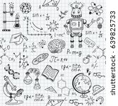 science education doodle set of ... | Shutterstock .eps vector #639825733