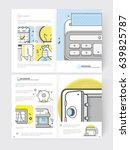 brochure  templates. set of two ... | Shutterstock .eps vector #639825787