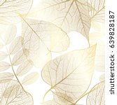 seamless pattern with gold... | Shutterstock .eps vector #639828187