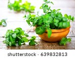 mint. bunch of fresh green... | Shutterstock . vector #639832813