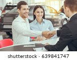 young people in a car rental... | Shutterstock . vector #639841747