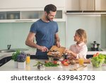 young father and daughter...   Shutterstock . vector #639843703