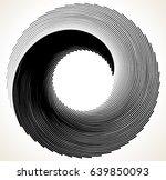 geometric spiral element series.... | Shutterstock .eps vector #639850093