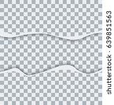 vector modern ripped torn paper ... | Shutterstock .eps vector #639851563