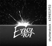 error 404 sign.hand drawn... | Shutterstock .eps vector #639851953