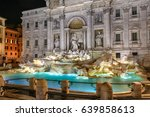 night view of rome trevi... | Shutterstock . vector #639858613