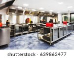 modern brand new kitchen fully... | Shutterstock . vector #639862477