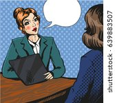 vector illustration of manager  ... | Shutterstock .eps vector #639883507