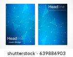 scientific brochure design... | Shutterstock .eps vector #639886903