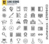 simple set of education line... | Shutterstock .eps vector #639898453