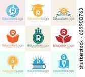 education initial letter r logo ... | Shutterstock .eps vector #639900763