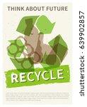 recycle garbage vector...   Shutterstock .eps vector #639902857