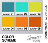 color chart for summer   vector ... | Shutterstock .eps vector #639910837