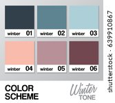 color chart for winter   vector ... | Shutterstock .eps vector #639910867