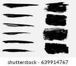set of black paint  ink brush... | Shutterstock .eps vector #639914767
