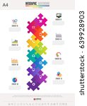 infographics design template  ... | Shutterstock .eps vector #639928903