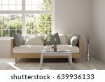 white room with sofa and green... | Shutterstock . vector #639936133