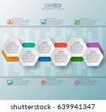vector abstract 3d paper... | Shutterstock .eps vector #639941347