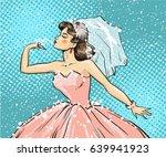 vector illustration of bride... | Shutterstock .eps vector #639941923