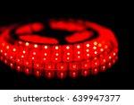 Red Led Stripe Light On Black...