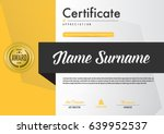 certificate template luxury and ... | Shutterstock .eps vector #639952537