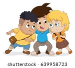 the child group talking plan... | Shutterstock .eps vector #639958723