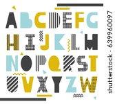 english alphabet vector ... | Shutterstock .eps vector #639960097