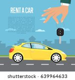 rent a car concept with family... | Shutterstock .eps vector #639964633