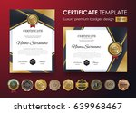 certificate template with...   Shutterstock .eps vector #639968467