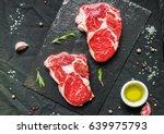 rib eye beef cow steak meat... | Shutterstock . vector #639975793