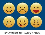 set of emoticons  icon pack ... | Shutterstock .eps vector #639977803